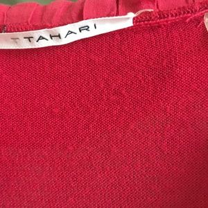 Tahari Tops - GREAT SHAPE RED TAHARI woman's blouse